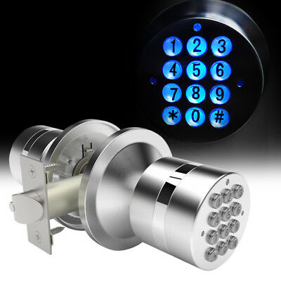 Electronic Locks Security Entry Digital Code Keyless Keypad Door Knob Lock