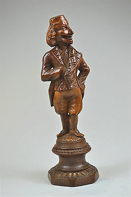 Antique hand carved wooden figure of a man grotesque caricature c.1800-50