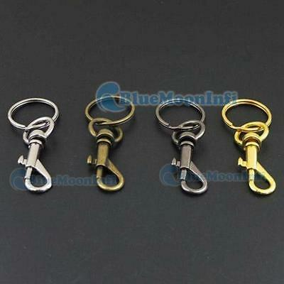 "25mm 1"" SWIVEL CLIPS SNAP Hook TRIGGER Webbing keyring split ring key Craft Y"