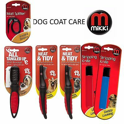 Mikki Professional Dog Cat Coat Care Stripping Knives Matt Breaker Stripper
