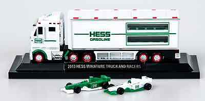 2013 Hess Truck Mini 18-Wheeler And Race Cars NEW