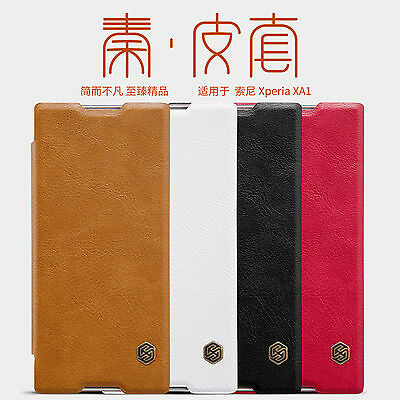 Original Nillkin PU Leather Flip Case Cover For Sony Xperia XA2 XA1 Ultra Plus