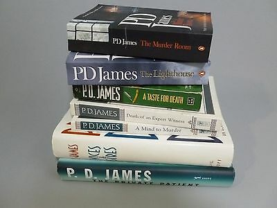 P D James 7 Book Lot Mind to Murder Lighthouse Murder Room Private Patient More