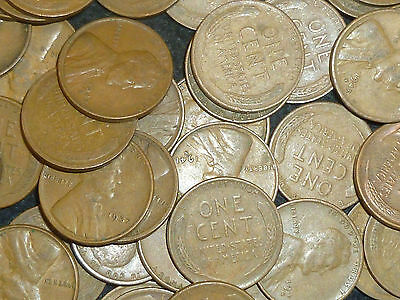 USA Wheat Cents Kilo Parcel Bulk Lot approx 300 Coins Issued 1909-58 circulated