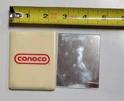 Vintage Conoco Gas & Oil Service Station Dealers  Advertising Pocket Mirror