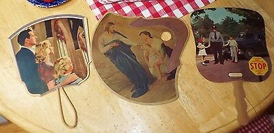 Vintage Advertising Paper Hand Fans from/for Kentucky Locations