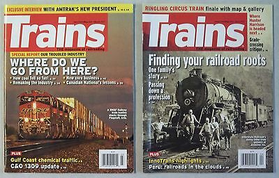 Trains Magazine March, 2017 and April, 2017 Back Issues