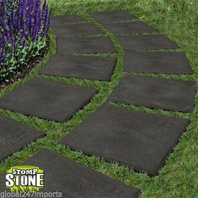 4 Garden Paving Slabs Stomp Stones Path Lawn Steps Walk Decorative