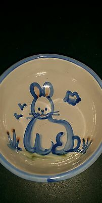 Collectable  Mary A. Hadley Stoneware Bowl Rabbit / Bunny