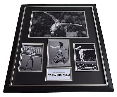 Nadia Comaneci SIGNED Framed Photo Autograph Huge display Olympics Montreal 1976