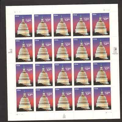 3648 $13.65 US Capitol MNH Sheet Face Value $273