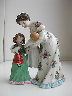 Vintage Scheibe Alsbach  Porcelain Figurine Germany  Mother with child