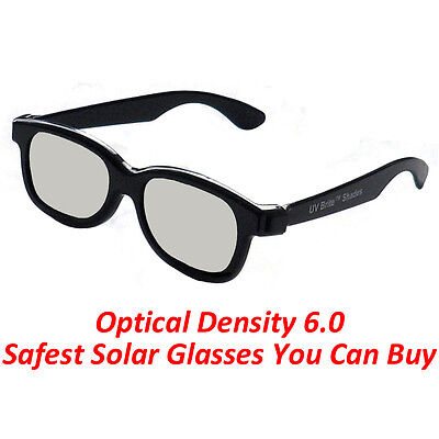 Plastic Solar Eclipse Glasses Shades USA 2017 100% Safe CE Approved Darker Lens