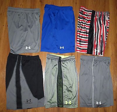 Lot 6 Boys UNDER ARMOUR Loose Ultimate Zinger Athletic Shorts YMD Medium 10/12