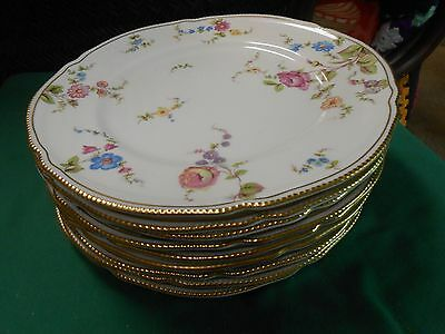 "Magnificent CASTLETON China ""Sunnyvale"" ...Set of 9 DINNER Plates"