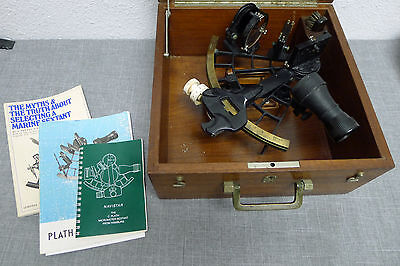 C. Plath Sextant Brass Hamburg Germany Micrometer Nautical *