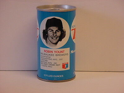 Vintage Robin Yount RC Cola Straight Steel Pull Tab Bottom Opened Soda Can