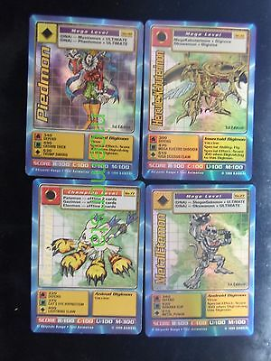 BANDAI DIGIMON 4 Gold Foil Cards BOLTMON MetalEtemon Ultra Digivolve SaberLeomon