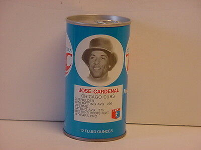 Vintage Jose Cardenal RC Cola Straight Steel Pull Tab Bottom Opened Soda Can