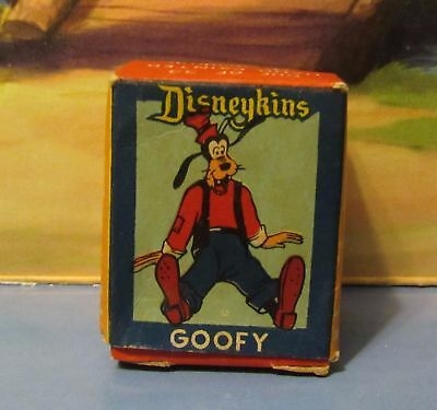 Disney Goofy  Disneykin Tinykin Small Figurine 1961 With Original Box Rare