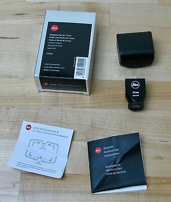 Leica Bright Line Finder M 21mm 12024 Excellent Condition - w/ Box and Papers