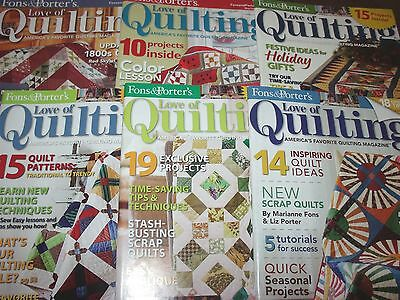 Lot of 6 Issues Fons & Porter's Love of Quilting Magazine 2007 2010 2012 2013