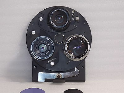 Omega #404-867 3-Lens Turret with  3 Lenses for D-5 and D-6 4x5 Enlargers