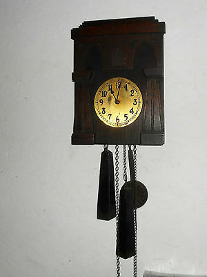 Rare Antique Mission Style Black Forest American Cuckoo Clock Working Philadelph