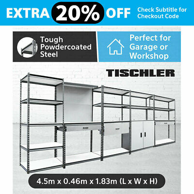 Warehouse Garage Metal Steel Storage Shelving Racking Shelves Shelf Racks
