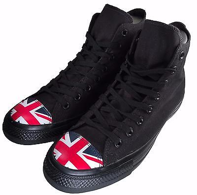 288e2246bf828d Converse Chuck Taylor All Star Flag Toe UK British England Black Hi Top  153910C