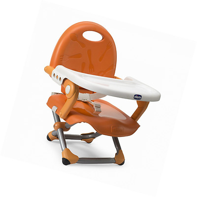 Chicco Pocket Snack Booster Seat - Mandarino - Travel Portable Highchair