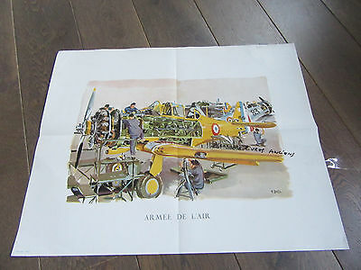 Affiche Avion 1960 Armee De L'air Aviation Par Yves Delfo