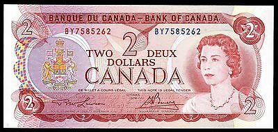 Canada.  Two Dollars, BY7585262, series 1974, Almost Uncirculated.