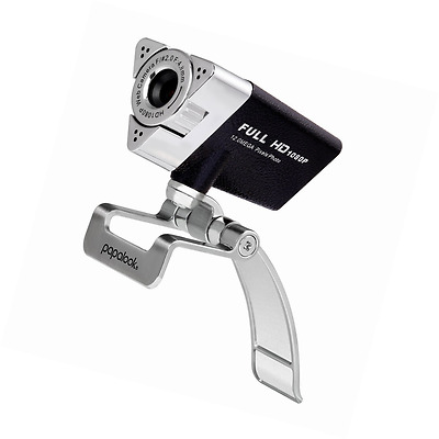 Webcam 1080P FHD, PAPALOOK PA187 Full HD Web Cam with Buit-in Microphone
