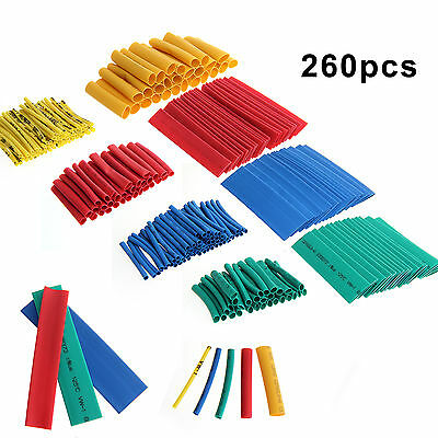 260Pcs Heat Shrink Tube Wire Wrap Car Electrical Cable Insulation Tubing 8 Sizes