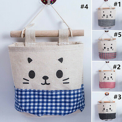 Cartoon Home Hanging Storage Bag Organizer Container Toiletry Holder Pouch Bags
