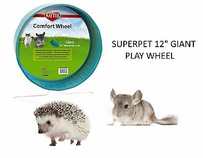 "Super Pet Kaytee Giant 12"" Chinchilla Comfort Play Wheel Cage Exercise 61386"