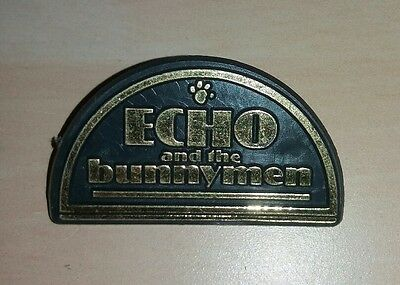 VINTAGE ECHO AND THE BUNNYMEN BADGE PIN 1980s RARE NEW WAVE NEW ROMANTICS