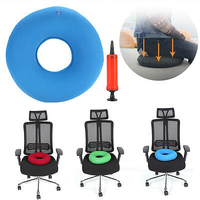 New Inflatable Round Chair Pad Hip Support Hemorrhoid Seat Cushion With Pump