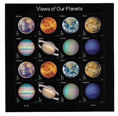 #5069-5076 Views of Our Planets (forever) 2016 Issue - MNH Sheet of 16