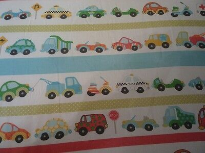 Cute boys cot bed fitted sheet with cars and other vehicles on 140 x 70 cm