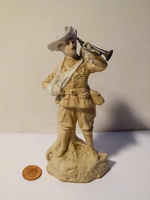 Rare Antique BUGLER DUNNE German Bisque Figure Boer War 1899 Dublin Fusiliers