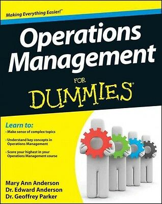 Operations Management For Dummies, Mary Ann Anderson MSE