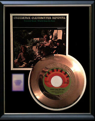 Creedence Clearwater Revival Gold Record Who'll Stop The Rain Rare Disc 45 Rpm