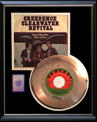 Creedence Clearwater Revival Gold Record Sweet Hitch Hiker Rare Disc 45 Rpm