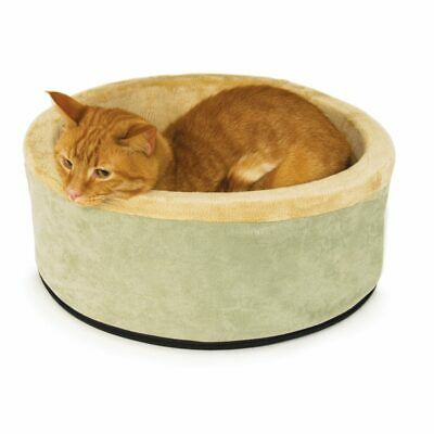 "K&H Pet Dog  Thermo-Kitty Bed Large Sage 20"" x 20"" x 6"""