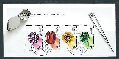 Australia 2017 Rare Beauties - Gemstones Miniature Sheet  Fine Used