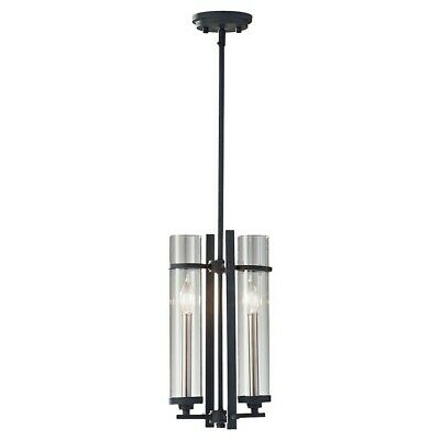Feiss Ethan 2-Light Mini Pendant, Antique Forged Iron - P1251AF-BS