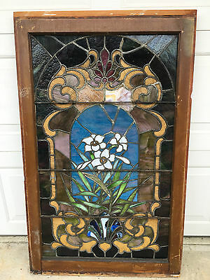 Antique Floral Stained Glass Window Wonderful Glass And Great Color