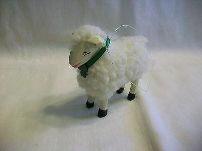 Adorable Fuzzy Sheep Figurine
